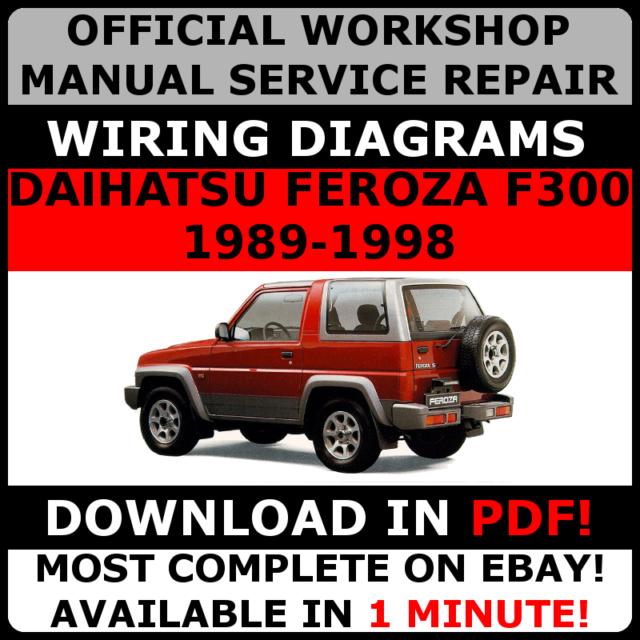 official workshop manual service repair daihatsu feroza f300 1989 rh ebay co uk Daihatsu Rocky daihatsu rocky wiring diagram