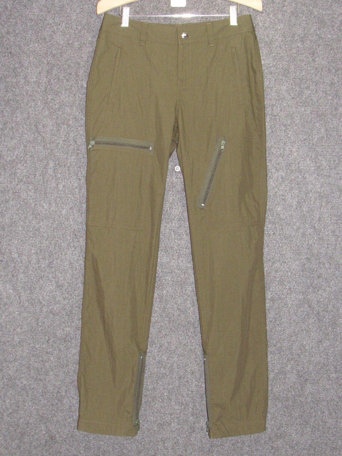 LAUREN ACTIVE RALPH LAUREN Green Cotton Cargo Pants SZ 2 NEW