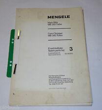 Teilekatalog Spare Parts List Mengele Maishäcksler Mais-Blitz MB 350 Turbo