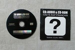 CD-AUDIO-MUSIQUE-CD-AUDIO-amp-CD-ROM-100-RAP-FRANCAIS-034-4T-CD-COMPILATION-PROMO