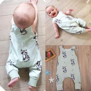 New-Toddler-Newborn-Baby-Boys-Girl-Romper-Bodysuit-Jumpsuit-Playsuit-Clothes-KW