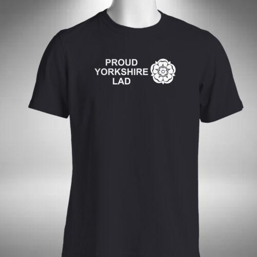 Proud Yorkshire Lad Mens T-Shirt Funny Bradford Leeds Sheffield Hull York