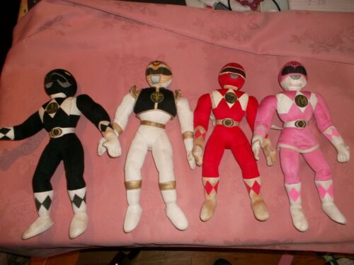 POWER RANGERS Jouet Doux en Peluche Véritable vintage de collection rouge blanc rose ou noir