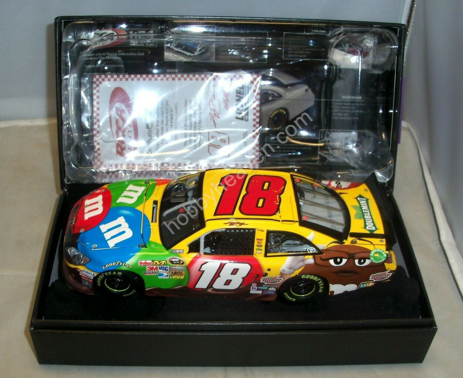 1 24 2012 ACTION RCCA ELITE  18 M&M'S CANDY JGR TOYOTA CAMRY KYLE BUSCH 1 250