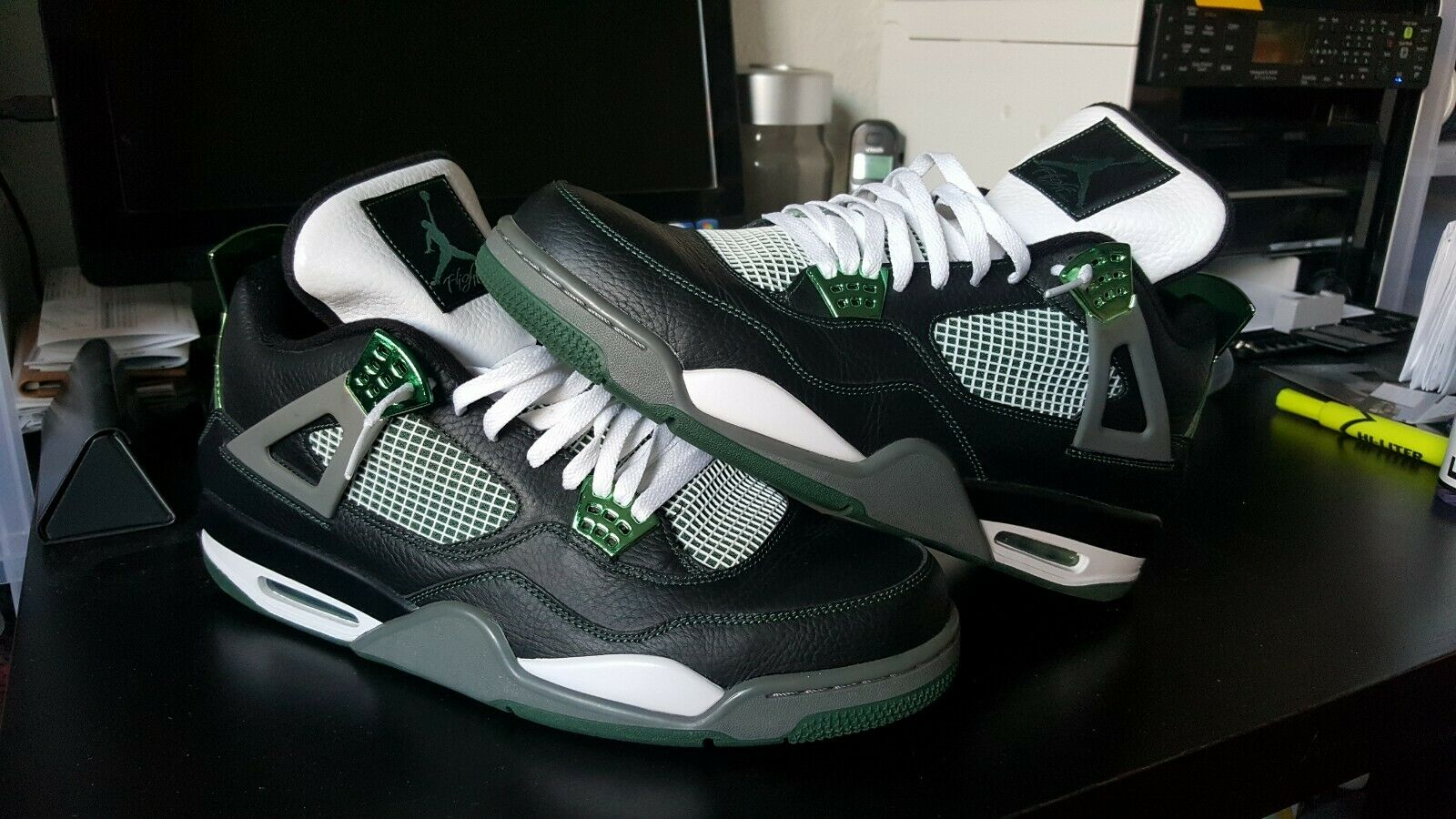 NIKE AIR JORDAN 4 RARE PROMO SAMPLE OREGON DUCKS SIZE 15 PE NRG MAX TRD SB