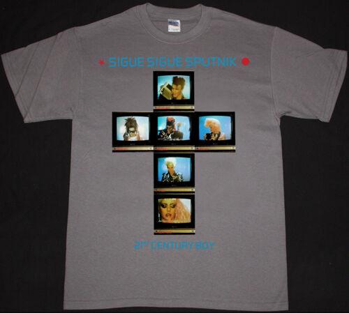 Sigue Sigue Sputnik 21ST CENTURY BOY Homme Gris T Shirt New Wave Punk Adam Ant