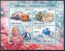 GUINEA BISSAU 2012 DIAMONDS MINERALS MARILYN MONROE SHEET OF FOUR STAMPS