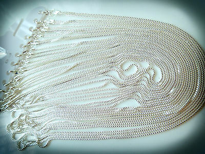 Wholesale Bulk - 10 pcs - Silver Plated Brilliant Necklace Chain 60cm - Quality