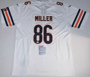 Details about Zach Miller signed Chicago Bears White jersey autographed JSA