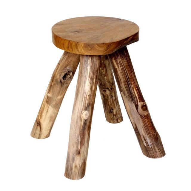 Stool from Teakwood Teak Wood Stool Beistelltisch Wood Sitting Stool Child
