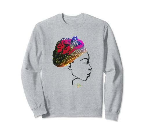 Miss Africa with Market Day Head Wrap Unisex Sweatshirt