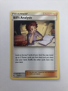 Bill's Analysis 51/68 Non-Holo Rare Pokemon Card Hidden Fates