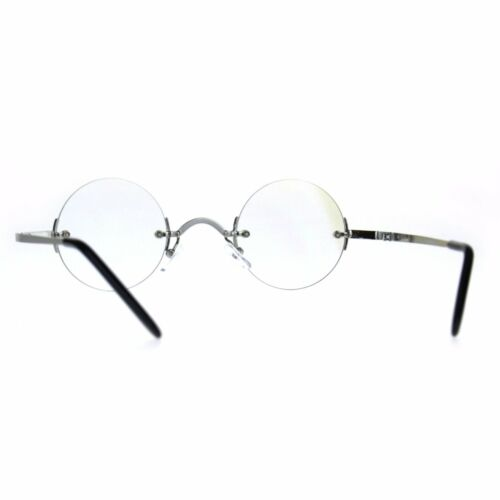 Hippie Groove Round Circle Rimless Clear Lens Eye Glasses