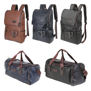 Men-Faux-Leather-Overnight-Bag-Travel-Duffle-Gym-Weekend-Mens-Luggage-Holdall-UK