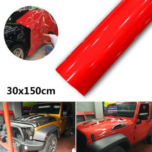 30*150CM Rot Glänzende Folie Car Wrapping Auto Folie Vinyl Film Wrap Sticker Neu
