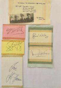 CLIFF-RICHARD-amp-THE-SHADOWS-Genuine-Handsigned-Signatures