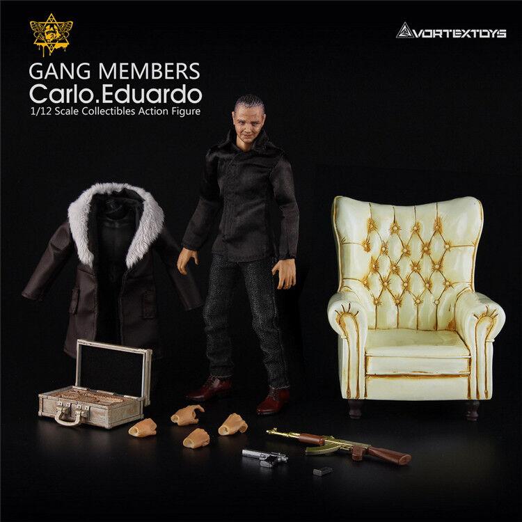 1/12th vortextoys V00013 Yew serie Carlo Eduardo Figura De Acción/W Crema Sofá