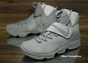 Nike lebron xiv silver riflette 852405-007 scarpe da basket maschile più dimensioni
