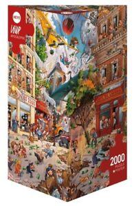 (HY29577) - Heye Puzzles - Triangular , 2000 Pc - Apocalypse, Loup