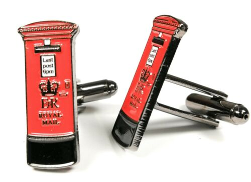 Details about  /Red Post Box Cufflinks Gift Pouch Brand New 20Mm Mens Gift Birthday