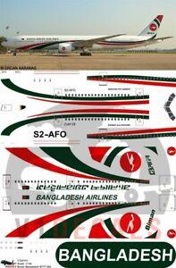 V1 Decals Boeing 777-300 Biman Bangladesh for 1/144 Minicraft Model Airplane Kit