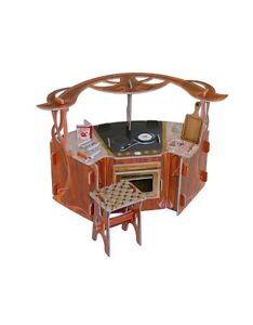 Cardboard model kit kitchen 39 s furniture scale 1 12 ebay for Scale model furniture