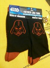 Star Wars Darth Vader Look-A Like Socks Father Son Shoe Sz 4-10 & 6-12 NWT