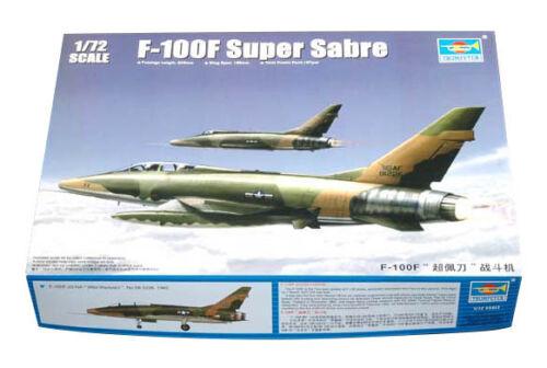 Trumpeter 9361650 North American F-100F Super Sabre 1:72 Flugzeug Modellbausatz