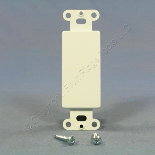 P/&S White Decorator BLANK 1-Gang Metal Wallplate Cover Insert Filler GFCI 326-W