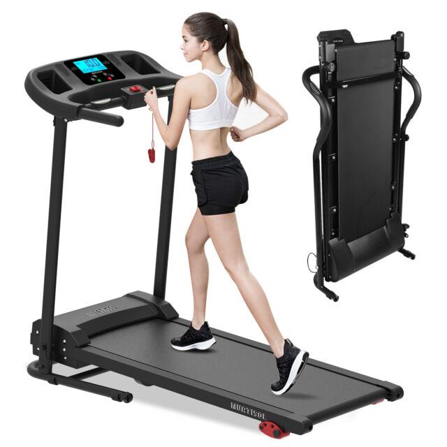Tapis de Course Pliable Electrique Jogging LCD 12 Programmes Pied Réglable