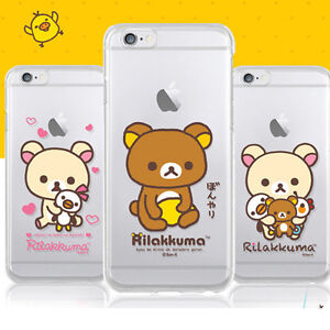 separation shoes cb404 07578 Details about Genuine Rilakkuma Clear Jelly Case iPhone 7/8 Case iPhone 7/8  Plus Case 6 Types