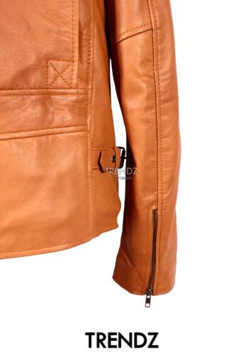 Mens ROCKETER TAN Military Parade Style Designer Lambskin Leather Fashion Jacket