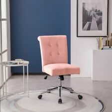 Home Office Velvet Chair Mid Back Swivel Ergonomic Executive Task Chairs Seat