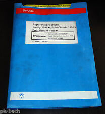 Reparatiebrochure VW Polo Classic / Variant Caddy Elektrische installatie