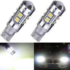 50W T10 W5W 10 SMD CREE High Power Led Car White Light Reverse Tail Bulbs 2 Pcs