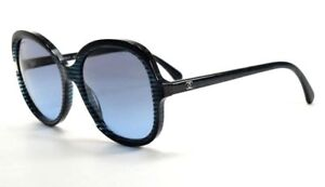 72173858e13 Image is loading CHANEL-Sunglasses-5320-1515-s2-Striped-Blue-Glitter-