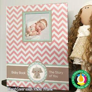 Baby Girl pink Memory Book Newborn Journal Baby First Year Book Baby Shower gift