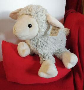 Wärmflasche Schaf creme weiss 45 cm Plüsch Flauschig Kuscheltier