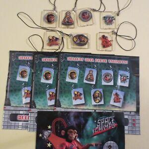 Ferrero/Landrin  Spielzeug Sehr Selten!! Schlüsselänhenger  Space Chimp  + 4 BPZ