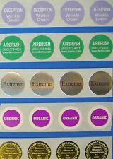 100 Custom Printed QR Code Stickers Labels-1 Inch-waterproof