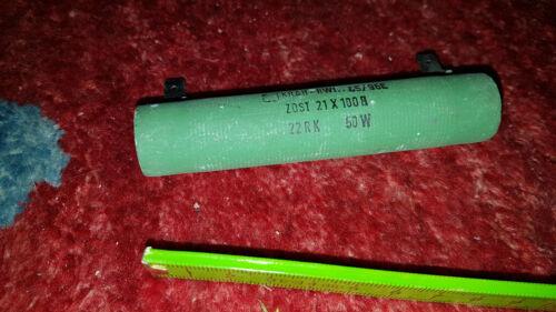 Hochlast Widerstand 22 Ohm 50W Krah-RWI L100 D22 ZDST