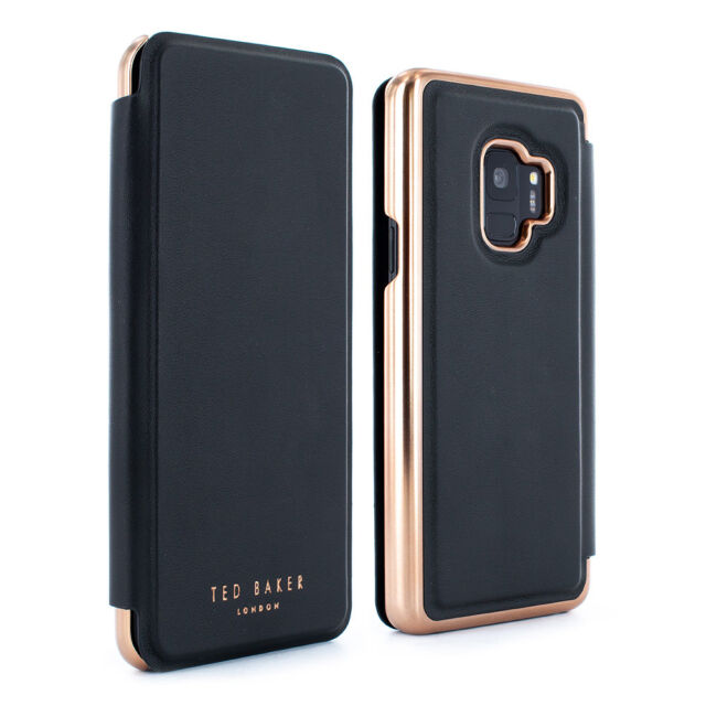 d6acbff62a56 OFFICIAL Ted Baker SHANOE Galaxy S9 Mirror Folio case Light weight case -  Black