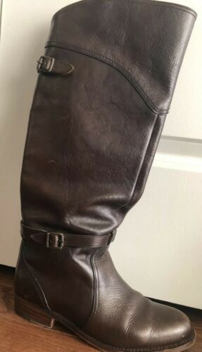 Frye Dorado Brown Leather Riding Tall Boot, SIZE 8