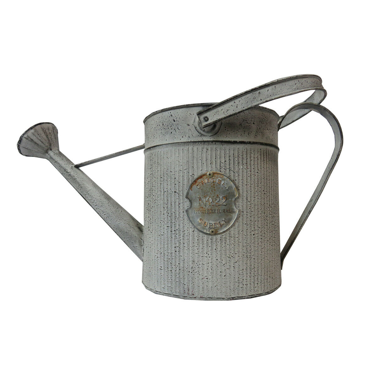 3.5L Shabby Chic Handmade Painted Iron Watering Can with Wide Spout & 2 Handles