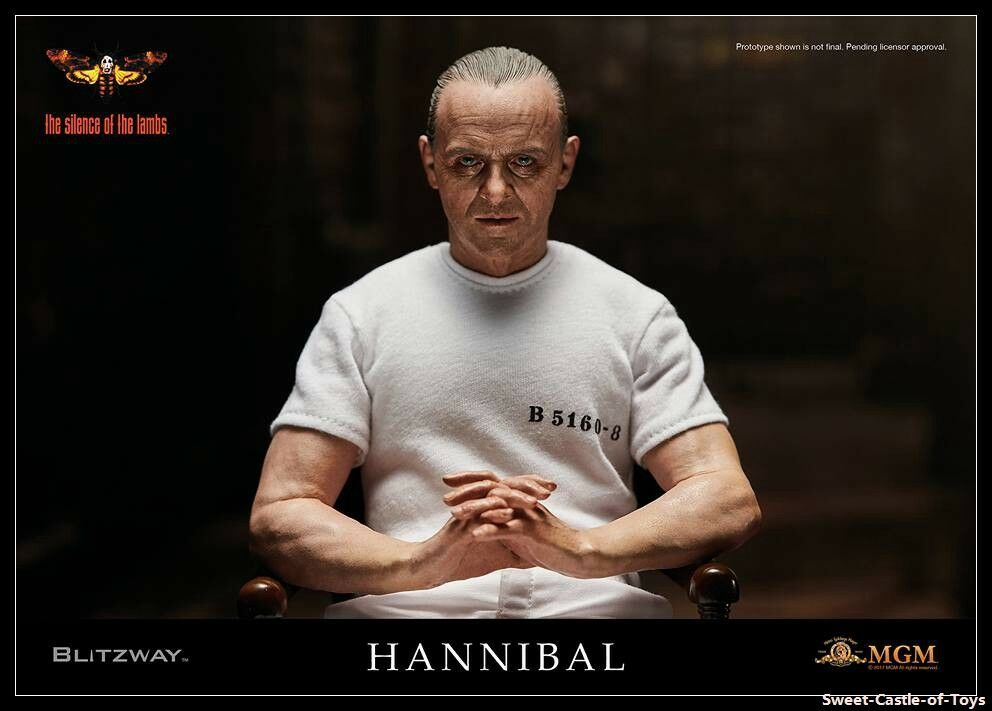 1 6 Blitzway Hannibal Lecter Anthony Hopkins White Prison Uniform Ver Figure