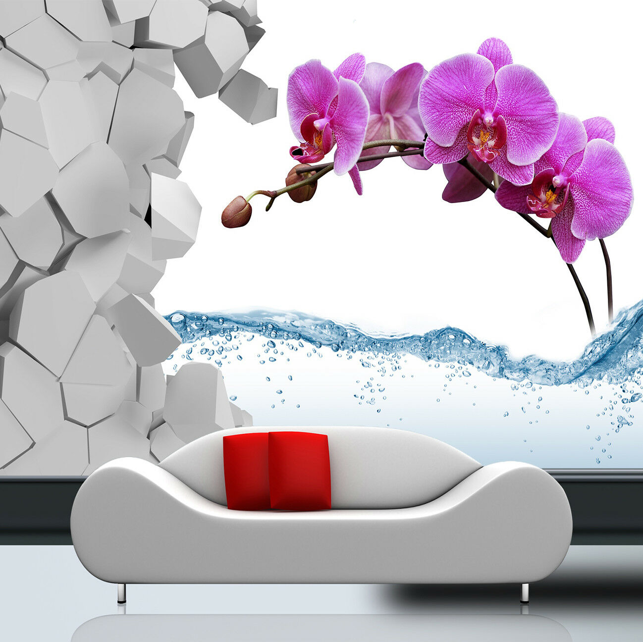 3D Ziegel Blaumen Wasser Wasser Wasser 7995 Tapete Wandgemälde Tapeten Bild Familie DE Jenny   Sale Düsseldorf    Einfach zu spielen, freies Leben    Attraktiv Und Langlebig  ba90de