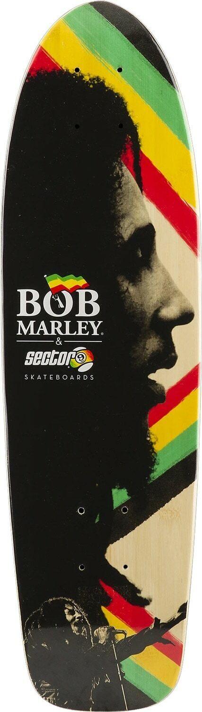 Sector 9 X Bob Marley Concrete Jungle Cruiser Deck Sz 30.5 x 8.37in