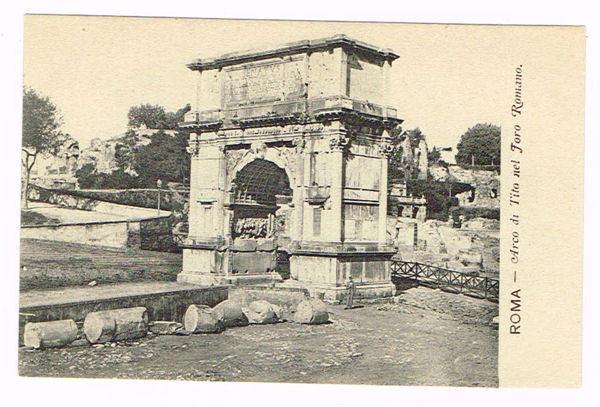 Vintage Postcard Italy 1900 ROMA ROME ARCO DI TITO NEL ...