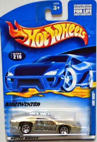 HOT WHEELS 2000 SIDE KICK #219 GOLD NEW CARD