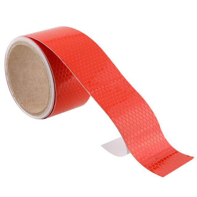 """2""""X10' 3M Red Reflective Safety Warning Conspicuity Tape Film Stickers"""